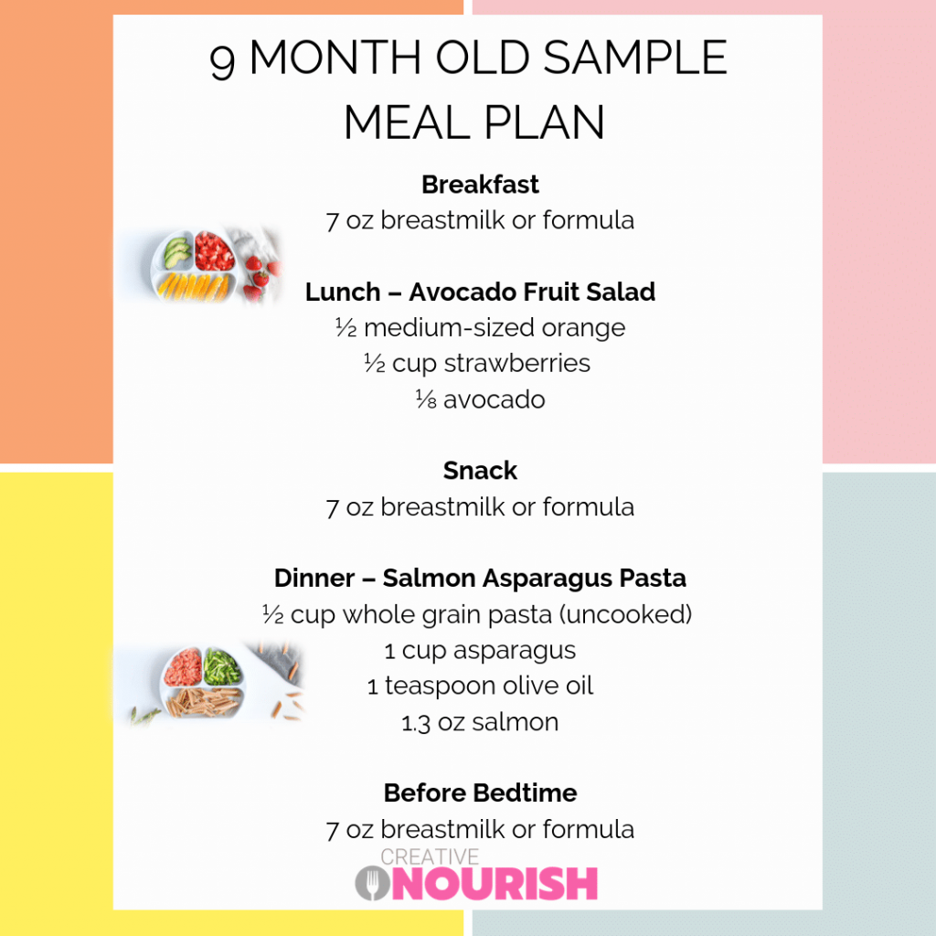 9 Month Old Meal Plan Nutritionist Approved Creative