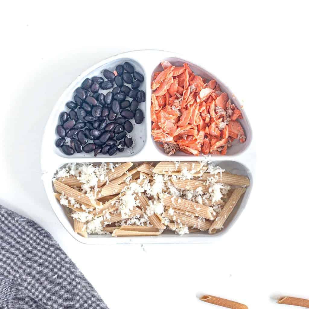 salmon beans pasta vegetarian meals